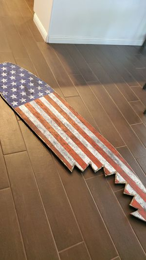Patriotic plywood surfboard for Sale in Upland, CA