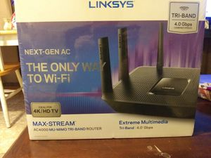 Linksys max stream wifi router for Sale in Statesville, NC