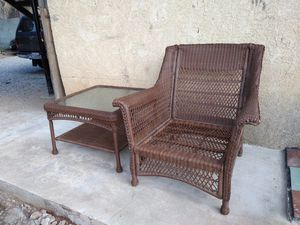 Like New One chair 30in length, One table 30in diameter and 2 sets of cushions. Very sturdy and clean furniture for Sale in Chula Vista, CA