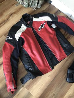 Alpinestars Leather Motorcycle Jacket for Sale in Coosada,  AL