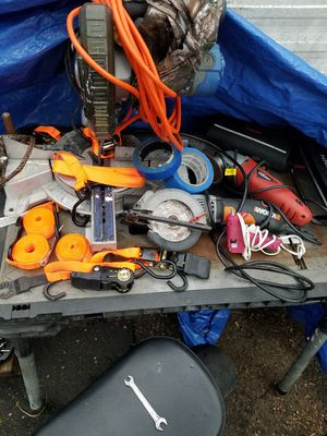 Tools, work benchs toolboxs, saws, drills, ladders and more! for Sale in Fairview, TX