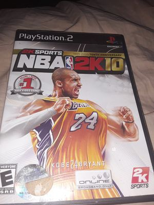 2k10 PS2 game for Sale in Ontario, CA