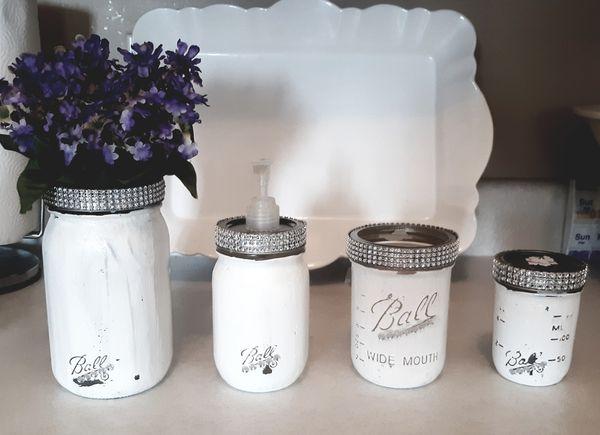 Mason jar bathroom sets