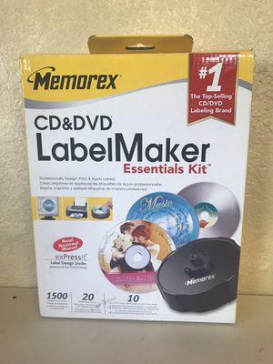 MEMOREX CD & DVD Label Maker Essentials Kit In Box for Sale in Yucaipa, CA