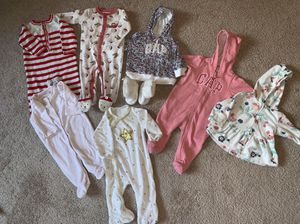 3 to 6 months old baby girl clothes for Sale in Santa Clara, CA