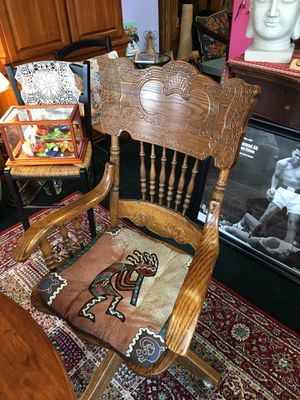Antique Wood Desk Chair for Sale in Vancouver, WA