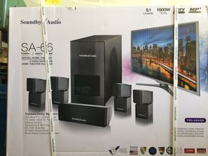 Bluetooth home theater system, Soundbyte Audio SA-66 pro series for Sale in Mesquite, TX