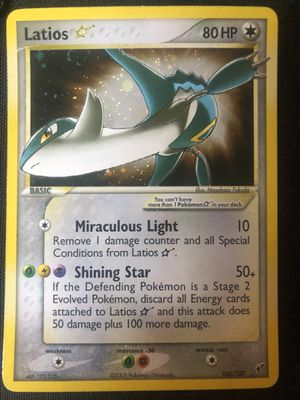 Pokemon EX Deoxys Latios Gold Star Holo 106/107 Good Condition HOLOGRAPHIC for Sale in Fresno, CA