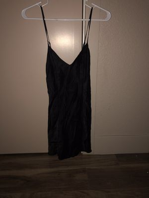 NWOT VICTORIAS SECRET BLACK 100% SILK SLIP NIGHTGOWN for Sale in Denver, CO