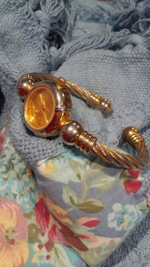 23K Gold plating bracelet cuff watch for Sale in Salt Lake City, UT