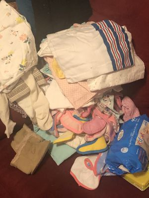 Baby girls clothes from 6 month to 12 months summer fall and winter pajamas onesies blankets for Sale in Harper Woods, MI