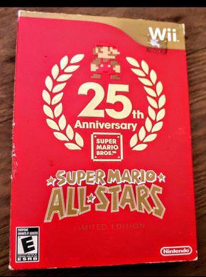 NINTENDO Wii 25TH ANNIVERSARY SUPER MARIO ALL STARS CIB for Sale in Escondido, CA