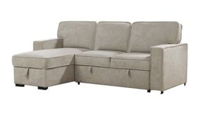 Sectional sofa Reversible Sleeper Sofa & Chaise Beige color for Sale in Chino, CA