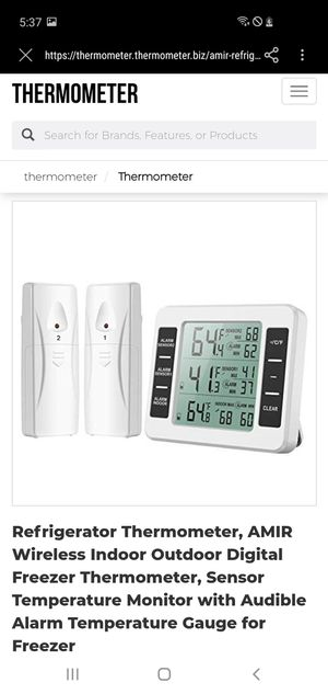 WA28 2-channel Refrigerator Thermometer for Sale in Henderson, KY