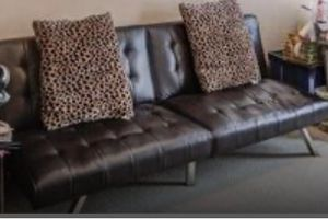 Leather Futon for Sale in Raleigh, NC