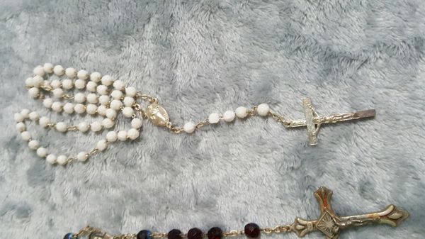 3 Vintage rosary silver italy