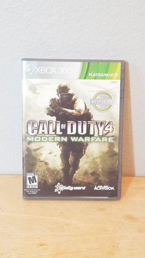 XBOX 360 Call of Duty 4 Modern Warfare Complete for Sale in Huntington Beach, CA