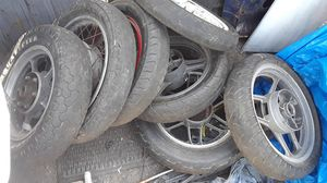 10 motorcycle rims Honda and kawasaki 70's 80's for Sale in San Diego, CA