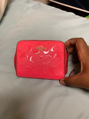 Coach pink mini wallet for Sale in Austin, TX