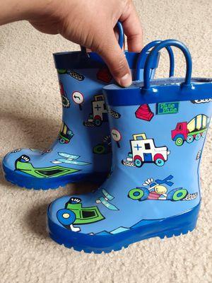 Boys rain boots color blue for Sale in Alexandria, VA