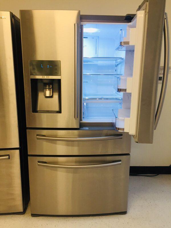 "🔥🔥Samsung//36"" stainless steel refrigerator counter depth (4) French door 90 days warranty 🔥🔥"