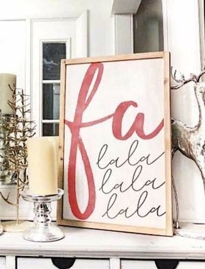 Farmhouse style Christmas wood wall sign decoration rustic style for Sale in Port St. Lucie, FL