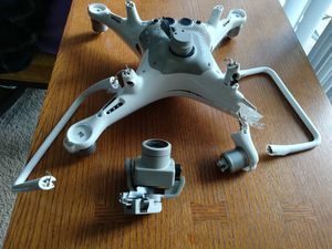 Crashed Phantom 4 Pro Plus Drone + Controller + 4 Batteries for Sale in Arlington, VA