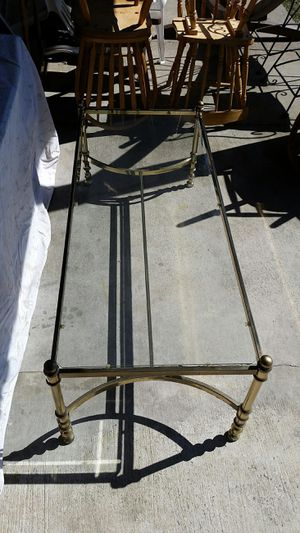 Glass/brass finish coffee table for Sale in Pittsburgh, PA