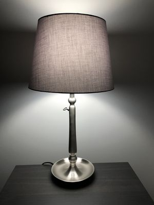 Gotham Table Lamp with Gray Shade Like New for Sale in Washington, DC