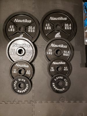 Total of 170lbs of 2inch olympic weights for Sale in Renton, WA