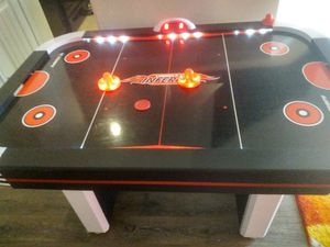 Air hockey table- lights up, makes sounds and scoreboard works for Sale in Sanger, TX