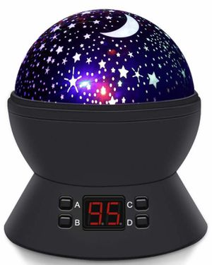 Upgrade] MOKOQI Modern Rotating Moon Sky Projection LED Night Lights Toys Table Lamps with Timer Shut Off & Color Changing for Baby Girls Boys Bedroo for Sale in Arlington, TX