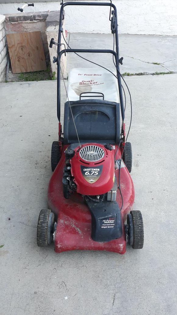 """Free craftman 21"""" self propelled mower"""