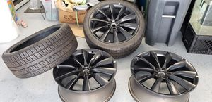 New tesla model x 22 inch rims and tires for Sale in Daly City, CA