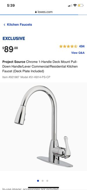 Kitchen pull down faucet for Sale in Cincinnati, OH