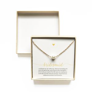 Bridesmaid Flower Girl Gift Pearl Pendant Necklace for Sale in Cleveland, OH