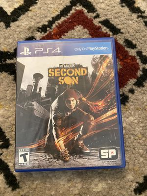 Infamous Second Son PS4 for Sale in San Marcos, CA