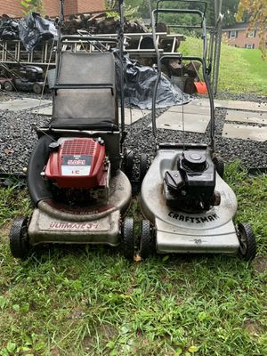 Two old lawnmower from parts for Sale in Springfield, VA