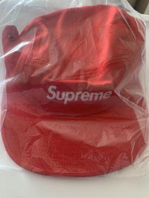 Supreme Jacquard Logos Twill Camp Cap Red for Sale in La Puente, CA