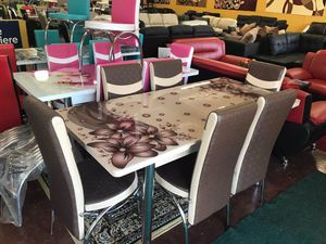 Dining table with chairs brand new 📦 (( fast delivery available))📦🚚 for Sale in Richardson, TX
