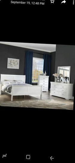 CLOSEOUTS LIQUIDATIONS SALE BRAND QUEEN SIZE 4PC BEDROOM SET AVAILABLE IN KING SIZE. ADD MATTRESS. NEW FURNITURE CM LOUIS PHILIPS for Sale in Ontario,  CA