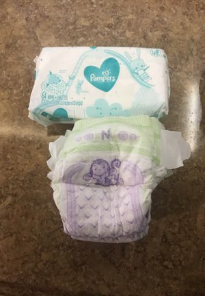 Sensitive pampers wipes an newborn luvs diapers for Sale in Glendale, AZ