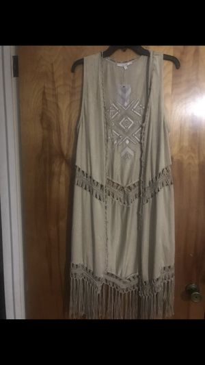 New Miss me long fringe suede vest size: M for Sale in Raleigh, NC