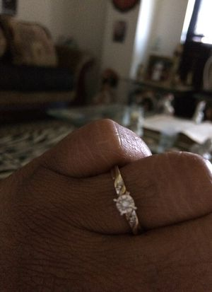 Lady ring size 7 in a half, 10 k diamond & gold for Sale in Nashville, TN