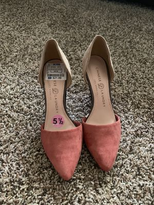 """New Pink and beige suede 4"""" heels Size 5 1/2 for Sale in Nashville, TN"""