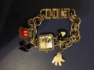 Disney Mickey Mouse Charm Bracelet Watch for Sale in Wadena, MN