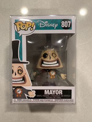 The Mayor Funko Pop *MINT* Nightmare Before Christmas NBC Jack Skellington Disney 807 with protector for Sale in Highland Village, TX