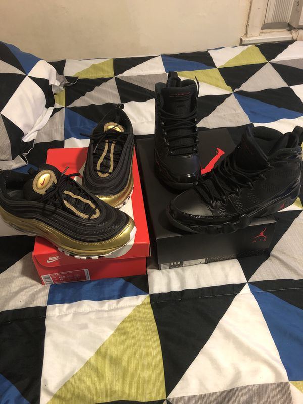 Jordan 9 Size 10.5 $175 Air Max 97 Size 10.5 $140 Both Lightly Used