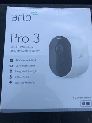 Arlo pro 3 cameras system. 2K 1080HD. Included 1 camera &all accessories for Sale in Alafaya, FL