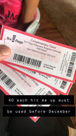 Six flags day past *must be used by December* for Sale in Modesto, CA